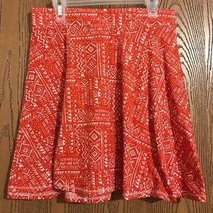 Orange Circle/Skater Skirt